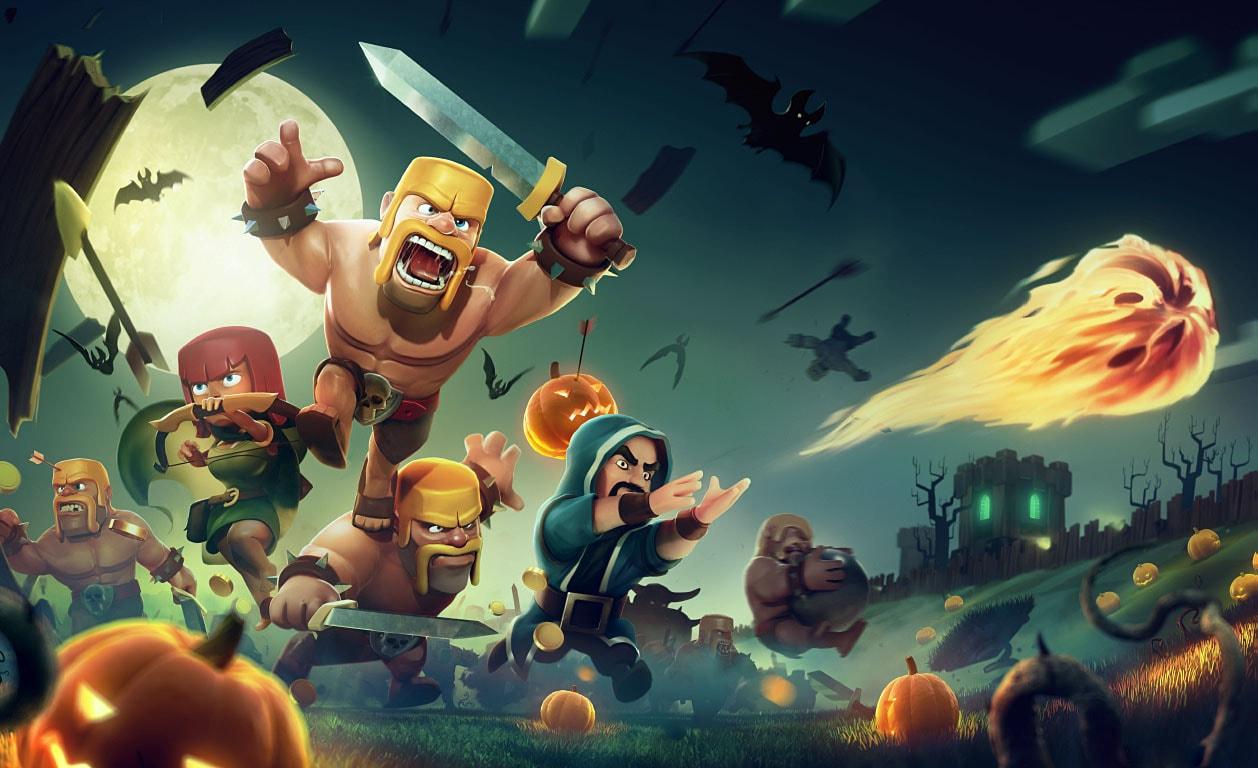 لودینگ کلش اف کلنز loading صفحه بارگزاری clash of clans هالووین جشن