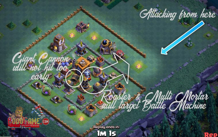 استراتژی های اتک در بیلدر هال لول 7