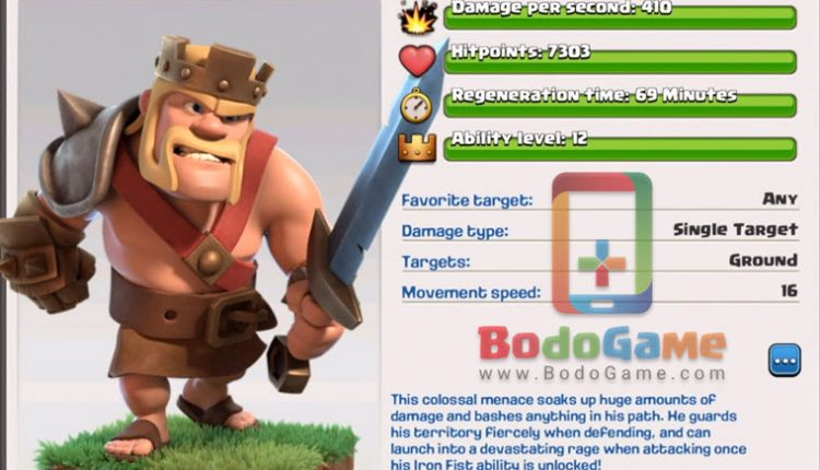 barbarian-king level 60 -Bodogame